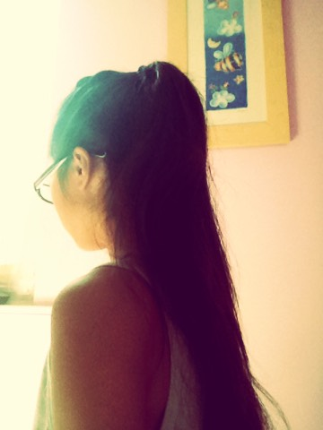 This second pony tail will give the illusion that you're ponytail is longer