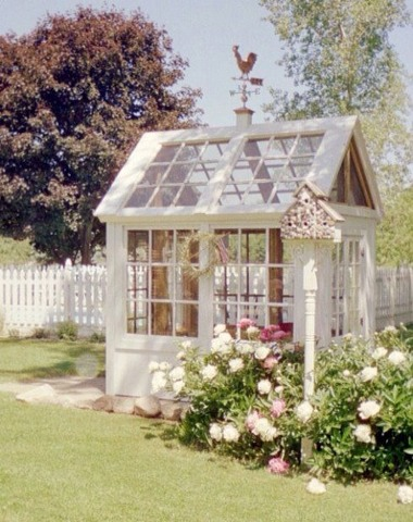 Greenhouse made out of recycled windows!