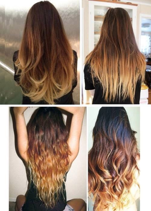 Classic brown to blonde ombré hair ( I have this my self but this isn't me )