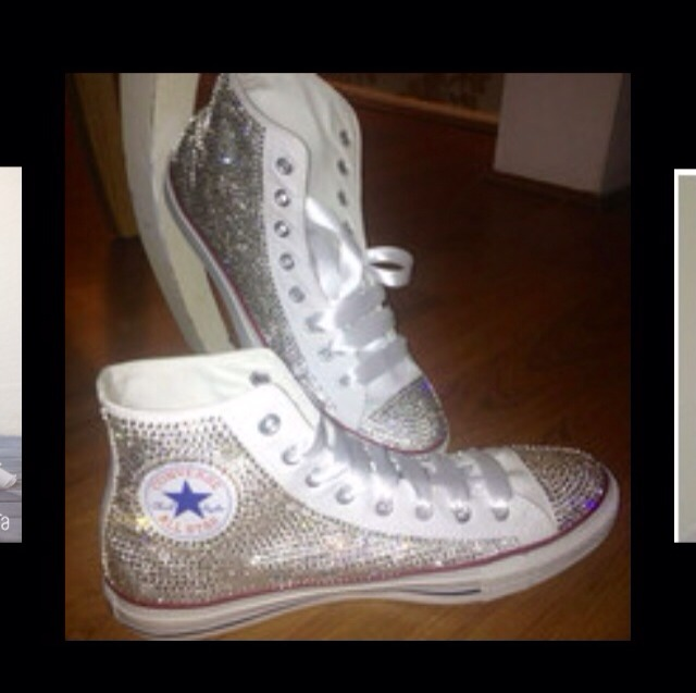 e0aa57aff4de Bedazzled Converse ( Chuck Taylor ) by Jazz Marrero - Musely
