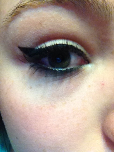 And you now have your winged eye.