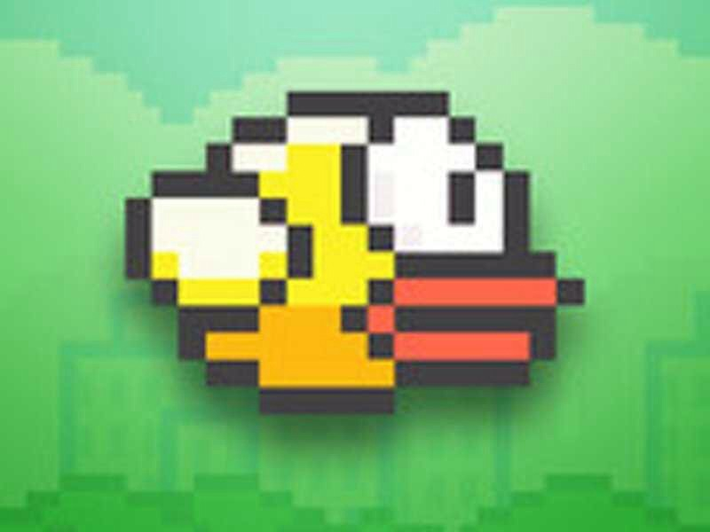Here is a pic of the bird in flappy bird sadly you cannot get flappy bird anymore unless you already have it but here are some similar games. :-)