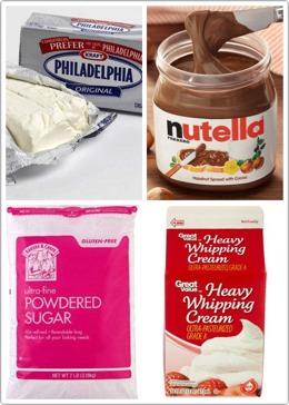 You will need : •Cream of the cheese (cream cheese) ☝️ •Nutella ( 🌟 ) •Powders sugie 🙉 •Heavy wHIpping cream 😸