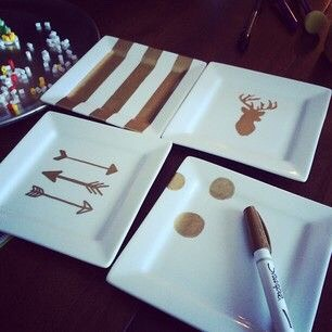 Use sharpies to make cute trays!