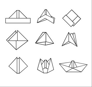 Origami Boat Instructions | Free Printable Papercraft Templates | 339x358
