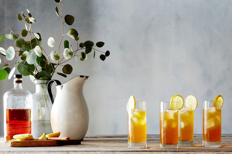 Owl's Brewtea gets a boost from gin and fresh fruit in this not-too-sweet cocktail, a drink tailor-made for the very hottest days of summer.