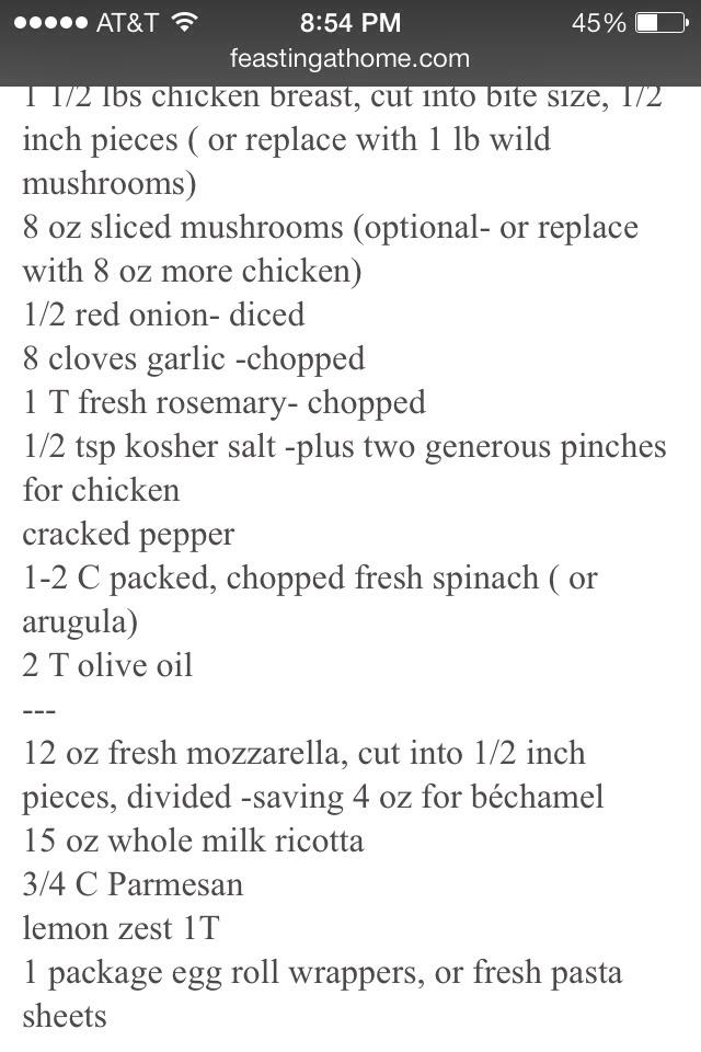 Ingredients;