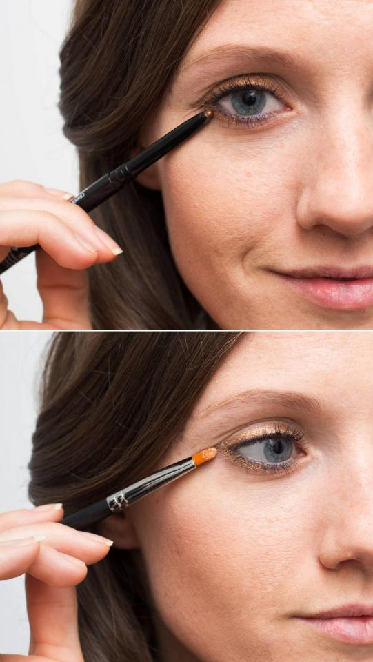 1. Make your eye makeup last longer by setting your eyeliner with a matching eye shadow. First, line your eyes with a pencil liner, and then lightly dust eye shadow in the same shade on top to hold the liner in place.