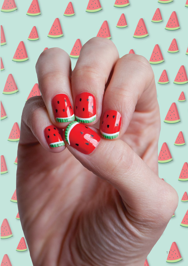 Watermelon nail design....