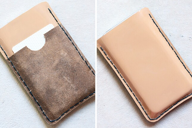 12. Leather Case: Back to something a bit more masculine, this leather case is easy to stitch and a lot of fun to customize.