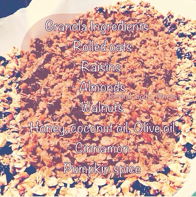 Make your own granola to save money by using it as cereal or just a snack