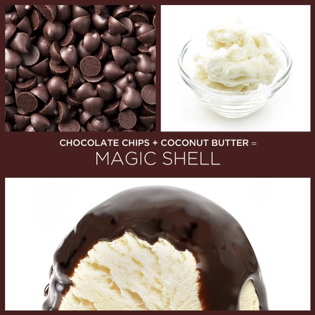 Pour over the magic shell on your favorite ice cream and in a few seconds you will see magic!