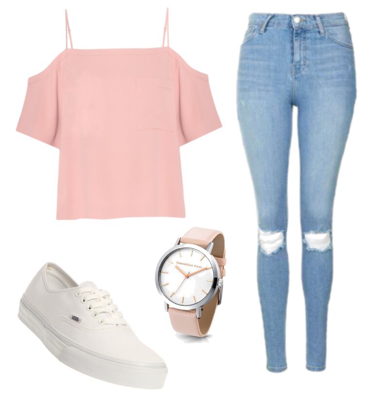 Top:? Jeans: Jeans by Guess Shoes: Vans Outlets Watch: Forever 21 (These items are not directly at the store buthave very similar items from these in the picture😊)