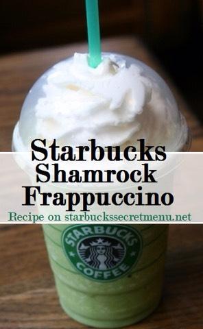 •Start with a Vanilla Bean Frappuccino •Add peppermint syrup (1.5 pumps tall, 2 pumps grande, 2.5 pumps venti) •Add classic syrup (½ pump tall, 1 pump grande, 1.5 pumps venti) •Add matcha powder (2 scoops tall, 2.5 grande, 3 venti)