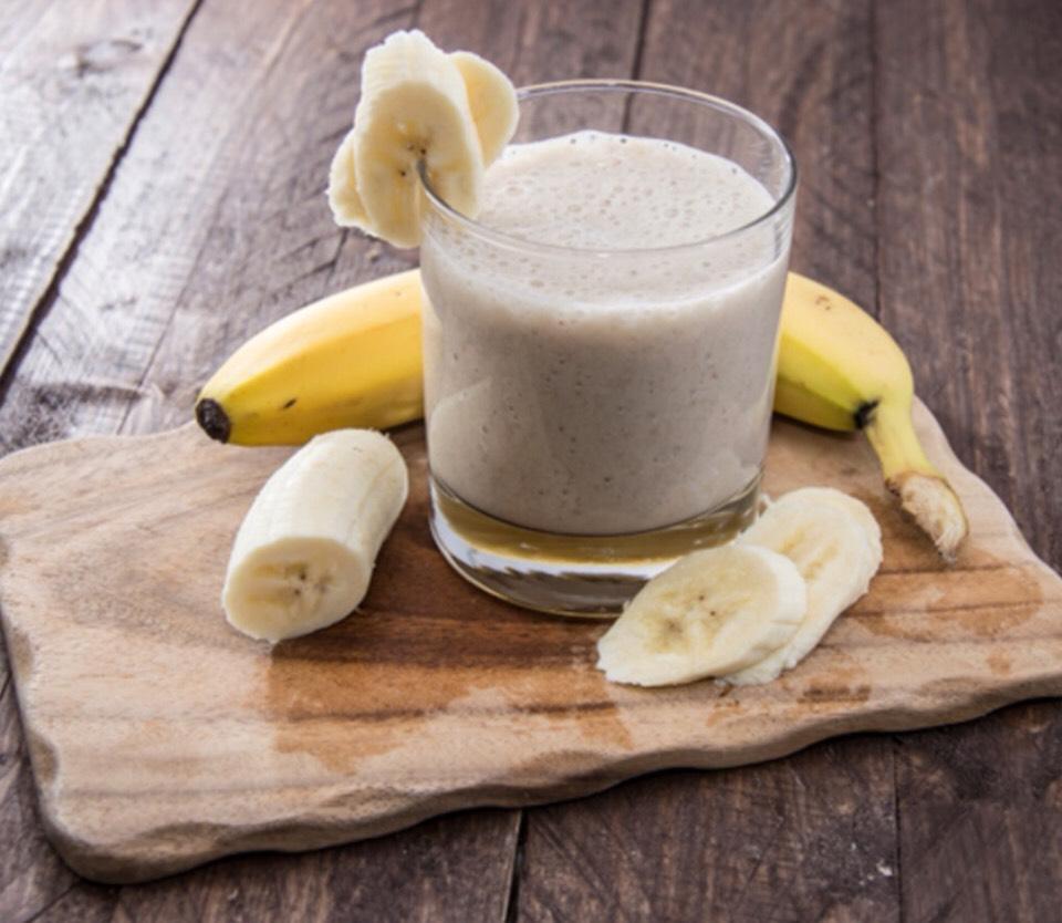 Banana Ginger Smoothie  -Serves 2 people  1 banana 3/4(6oz) vanilla yogurt 1 tbsp honey 1/2 tsp freshly grated ginger