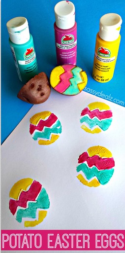 Potato Easter stamping