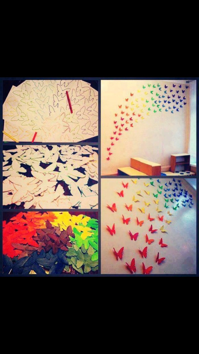 Super easy butterfly wall!