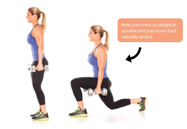 Walking lunges: 2 sets 25 steps each leg!