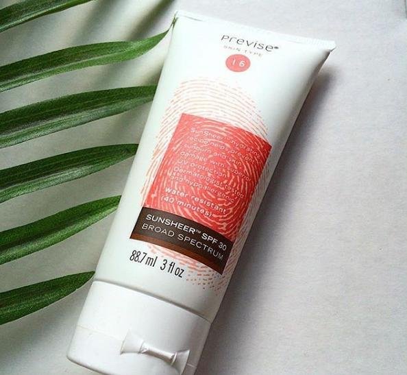 """OxybenzoneMost chemical sunscreens contain oxybenzone, which has been labeled as a """"hormone disrupter"""" (an ingredient that's linked to fertility problems, obesity, and more). Some sunscreen brands have caught on and are offering oxybenzone-free alternatives. Try Previse SunSheer Broad Spectrum SPF 30 Sunscreen, if you're looking for a SPF that doesn't include the ingredient."""