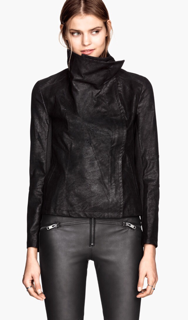 A black leather jacket is an essential piece that must stick with you every fall! I'm going to upgrade my leather jacket this year to this one. The funnel neckline is trending this season, so it's a piece that everyone will want for sure! Plus, it's affordable and priced at 59.95