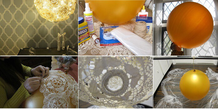 Click on the link for instruction http://www.goodshomedesign.com/diy-doily-lamp/