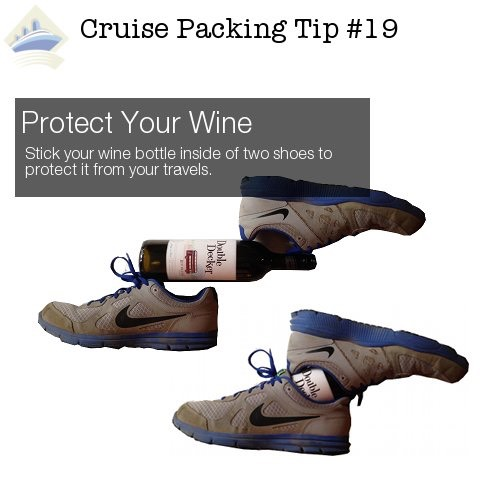 Transport wine in your shoes.