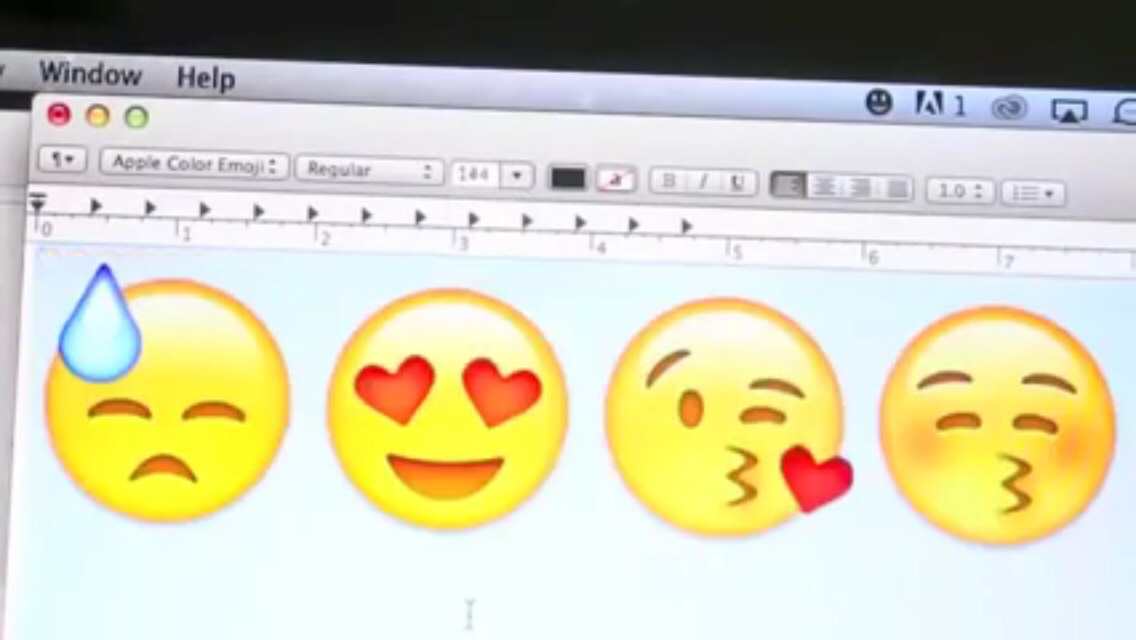 Step One:  Go to your laptop or computer and go into a word document and pick the emojis you want on your backpack. Make sure they are big enough for it.