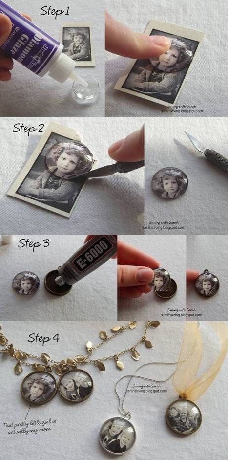 10. Photo Pendants or Magnets I'm thinking Mother's Day or perhaps for a best friend's birthday? They are actually really cheap (less than $2.50 each), and you could put a magnet on the back as an alternative to the pendant just in case they are not the necklace-wearing type.