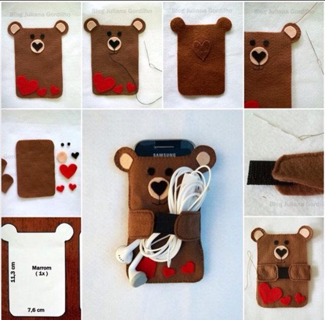 18. Bear sleeve phone case