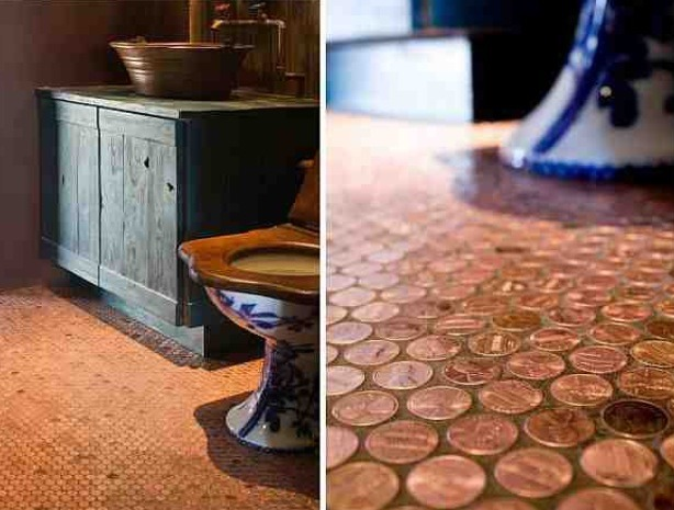 Place the tiles on the floor starting from the back of the room. Then spread grout and water on the floor to fill all the crevices.Full steps here.   Don't forget to like and save if you've enjoyed the tip :)