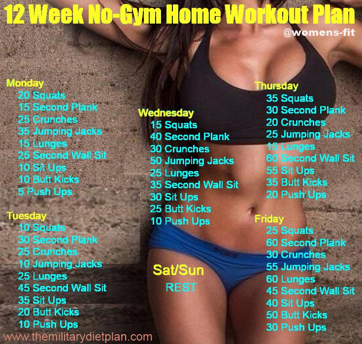 Awesome workout plans for beginners. No gym or equipment needed!