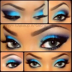 """Wrong shade of eyeshadow!! Go for the opposite of your eye color, not the exact match. """"This'll bring the color of your eyes out more, For blue eyes, try shades like brown, copper, bronze, plum or terracotta, and for brown or hazel eyes, blue, purple, green or mahogany will enhance."""""""