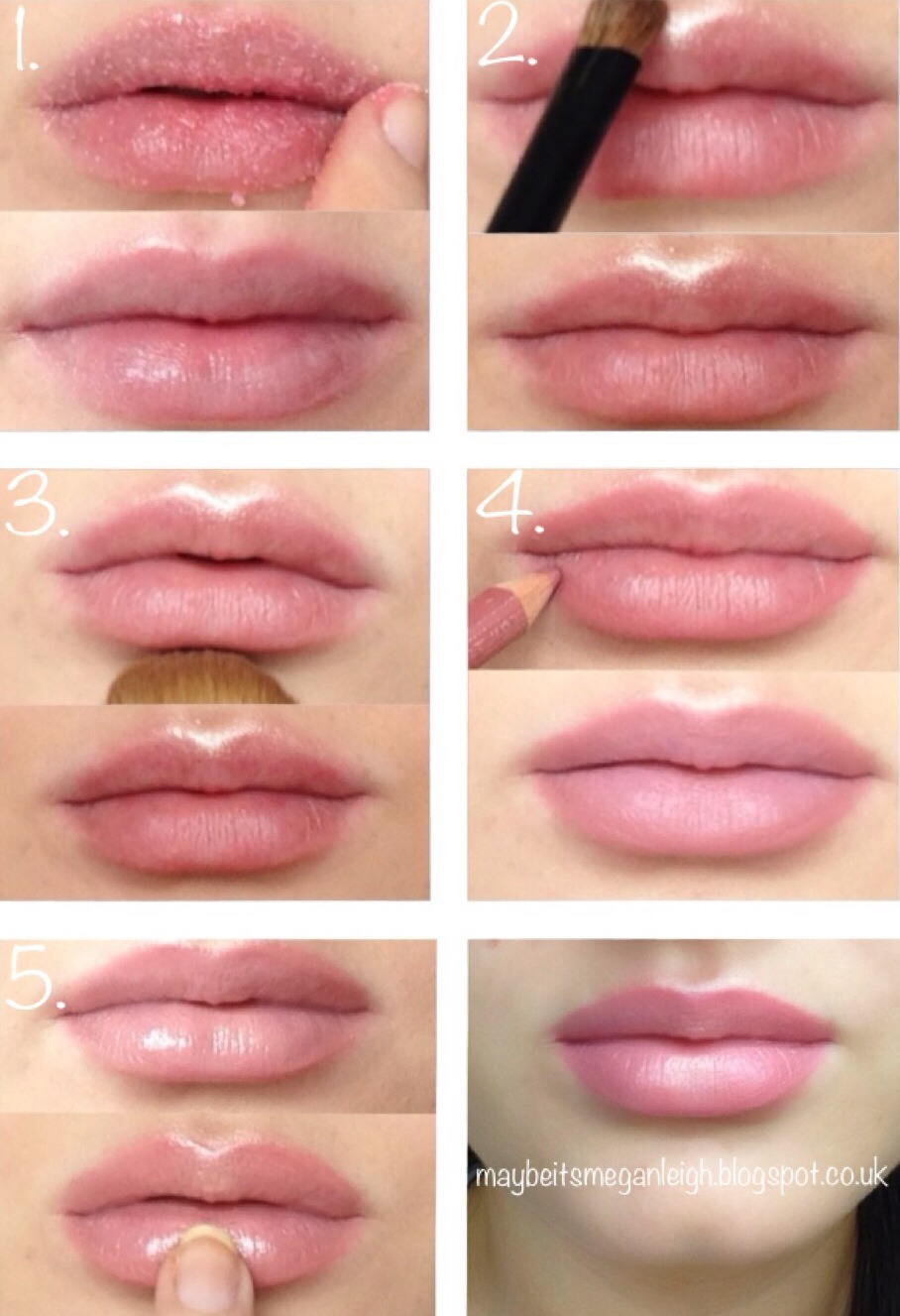 By Using Highlighter In Key Places On Your Lips, You Can Get A Fuller Look  Red Lips 2 Easter Eggs How To Draw Nose First Make