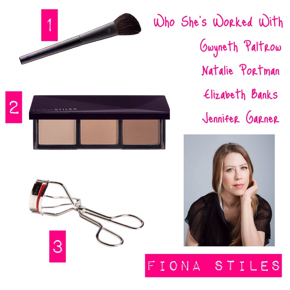 """1.SurrattBeauty Artisque Sculpting Brush, $90,sephora.com  """"Surratt brushes are so incredible, especially the sculpting brush. They're perfectly weighted, expertly shaped and just the right mix of soft and firm. They're always the first brush I reach for.""""  2.FionaStiles Sheer Sculpting Palette, $28, ulta.com  """"Iuse this pretty much every time I work. The payoff is so sheer that it's totally believable and natural looking. It's a game changer for sculpting."""""""