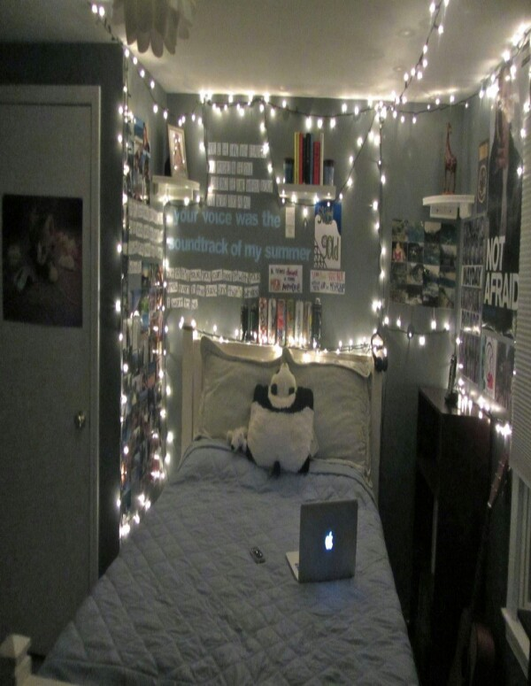 Lights and photos  Hang up christmas lights all around your room or just  near your. Musely