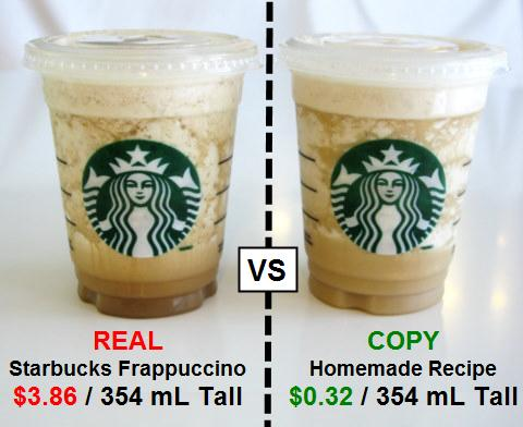 Just to show how much more money you can save when you make your own drinks :)