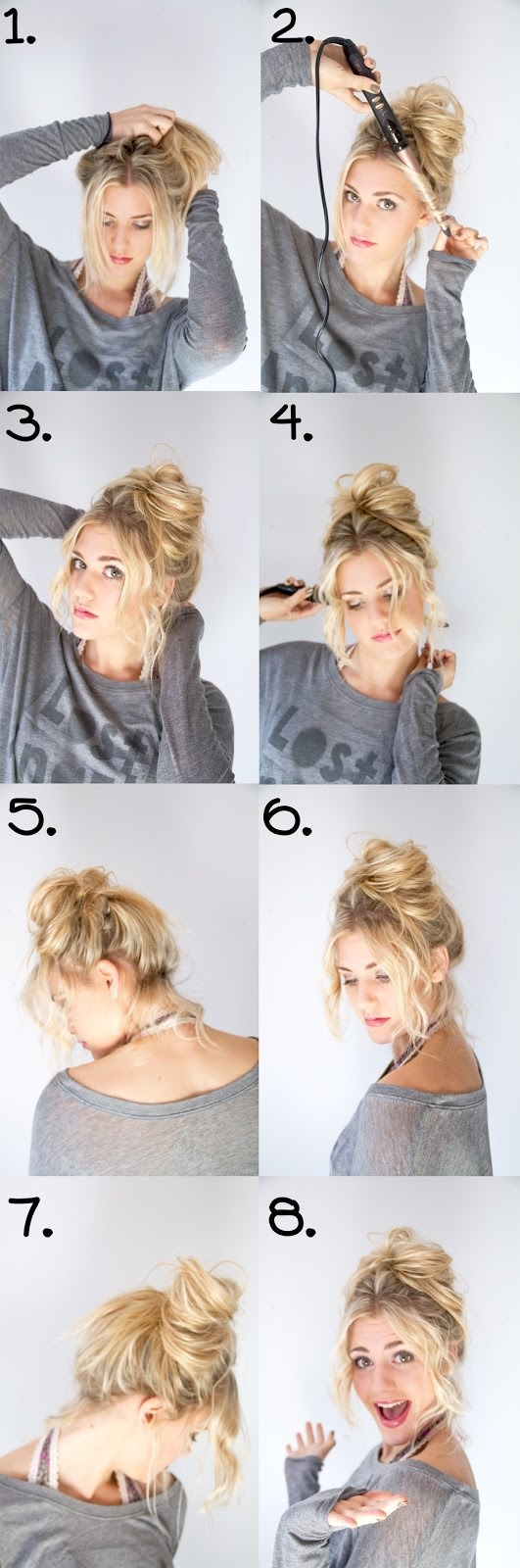 Or you can do a messy bun for a more tousled, laid-back look