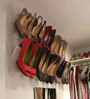 Use crown molding as a place to store your heels