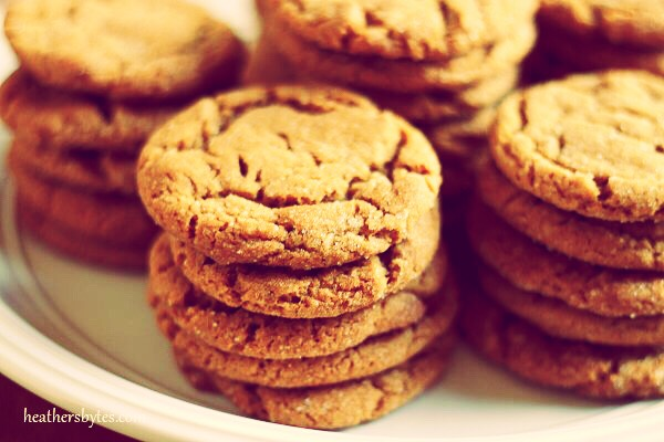 Gingersnaps Sweet and a little spicy, these cookies have it all!  http://allrecipes.com/recipe/25068/grandmas-gingersnaps/