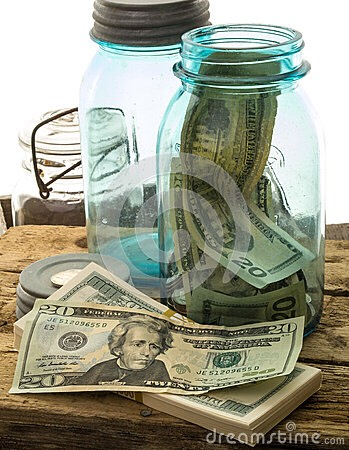 Use it as a piggy bank and keep extra money on them that you are saving. You could even paint the jar if you didn't want anyone to see