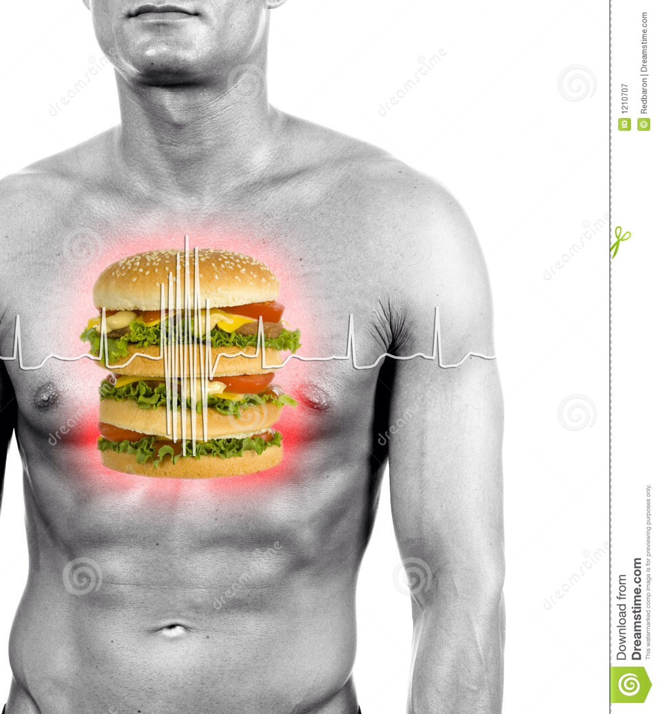 Because we eat fatty foods and unhealthy food or fake food... It stresses our heart and cause us to have heart attack.. We need healthy heart food to help the heart pump. Stay alive!