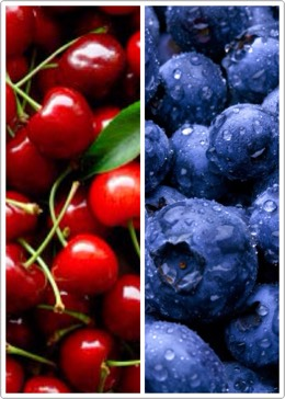 Blueberries, Cherries, or other dark colored fruits are great to help muscle soreness! They are jam packed with nutrients that helps accelerate the elimination of waste products during training