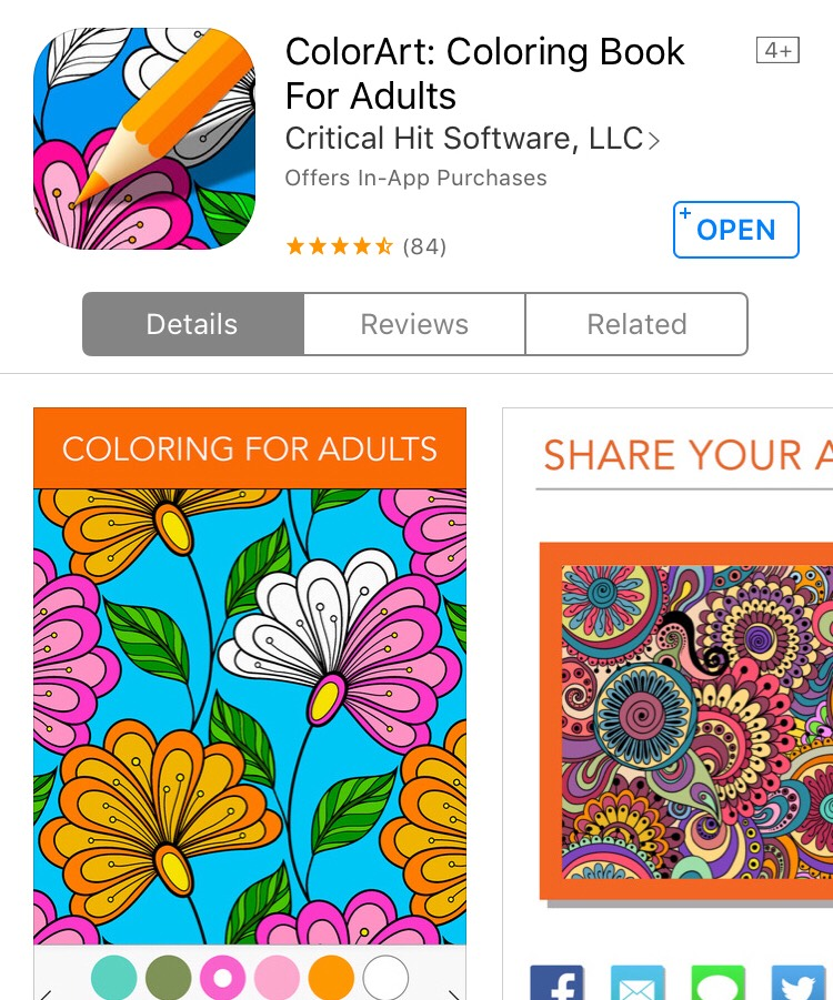 This is great, especially for people who love to color. You don't have to worry about the mess or tools need for art