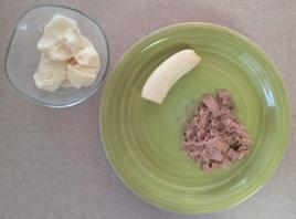 Day 3 Dinner:      (1 cup) tuna (179 calories)     (1/2) banana (53 calories)     (1 cup) vanilla ice cream     (289 calories)