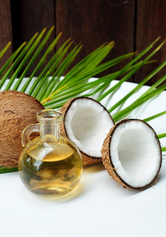 Coconut oil helps it grow strong.