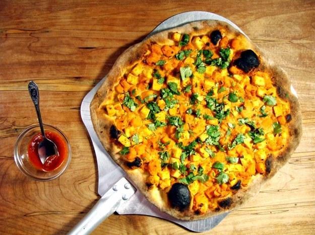 21. Vegetarian Thai Curry Pizza