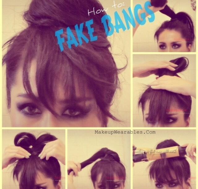 How to make fake bangs.