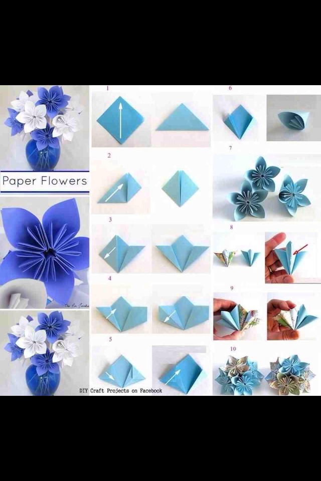 Tulip Flower - Easy Origami Tulip Flower Instructions - YouTube | 960x640