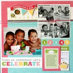 2. Special occasions!! Such as birthdays, holidays, and vacations are great to keep a scrapbook of to remember more about yours or others childhood experience!!!