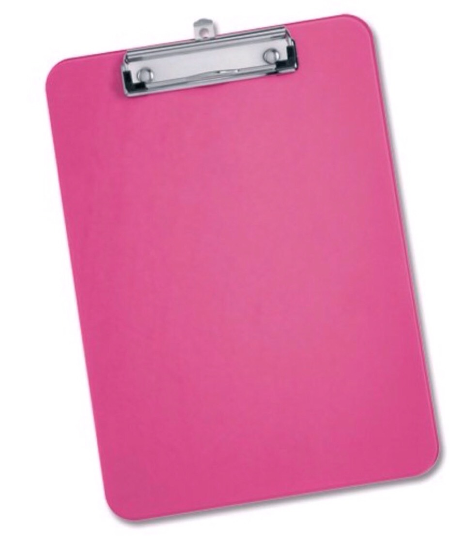 Clipboard - For if your lazy like me and don't want to move from the sofa to do your homework at the table
